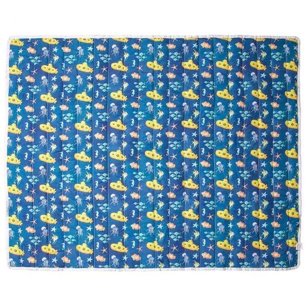 tapete mesversário acompanhamento mensal dupla face azul tema fundo do mar use alce