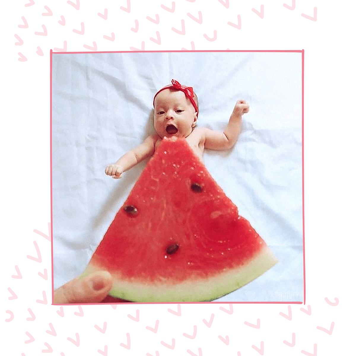 Fotos criativas para fazer em casa com o bebê! Faça fotos com frutas