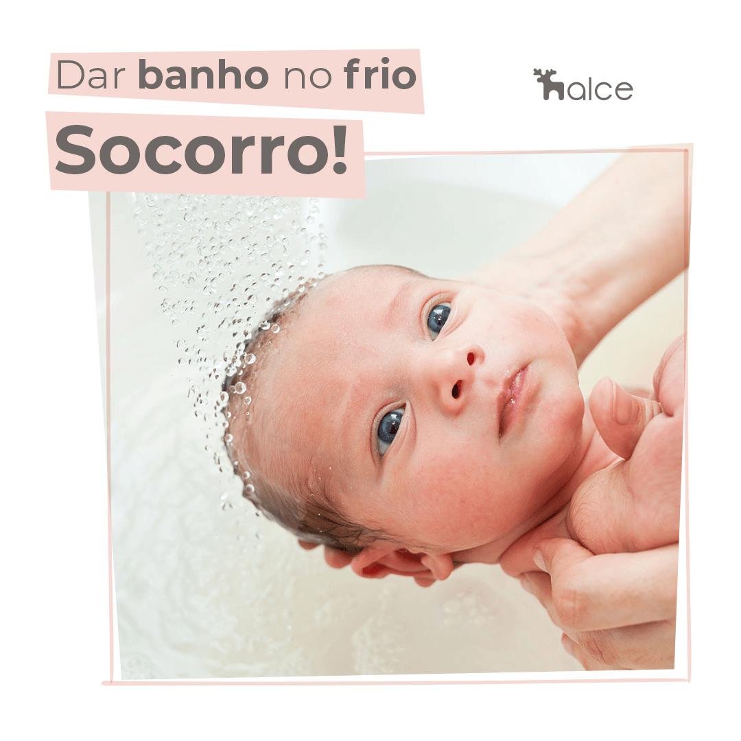como dar banho no bebê no frio